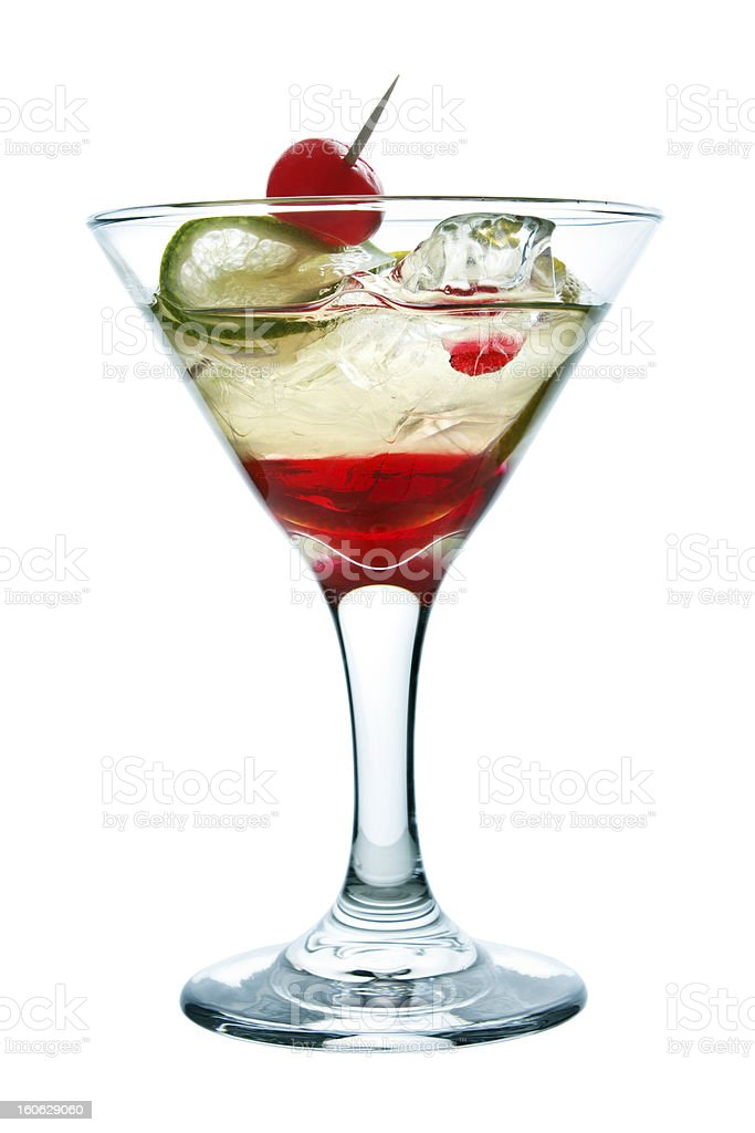 Layered cocktail royalty-free stock photo