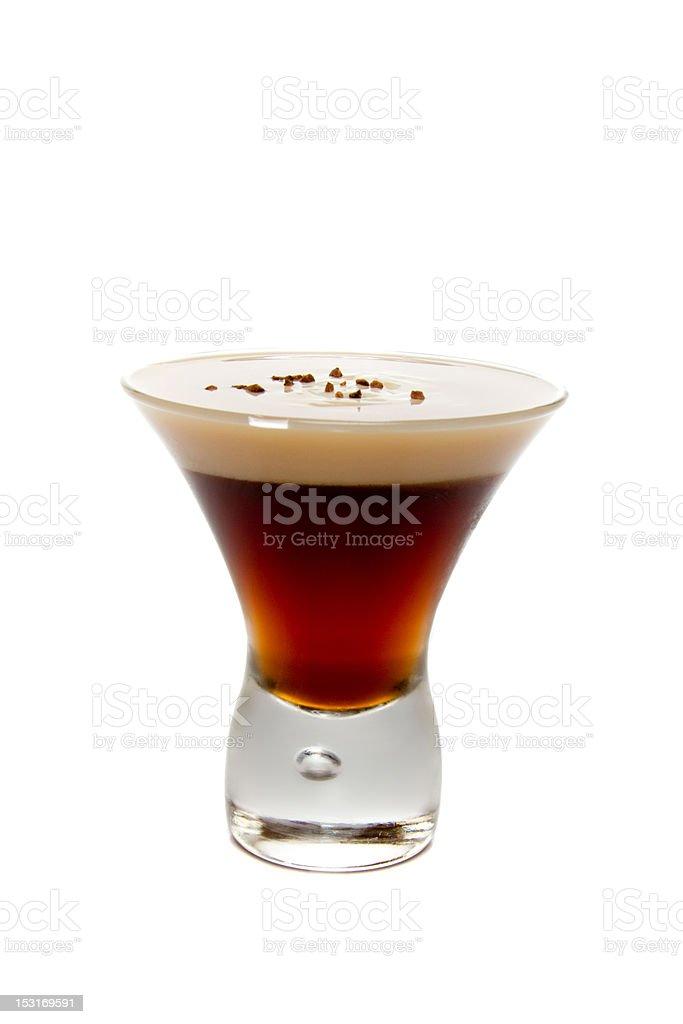Layered cocktail shot royalty-free stock photo
