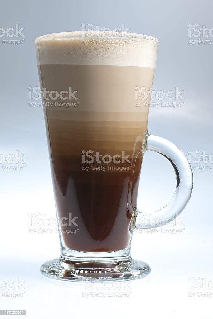 Layered coffee royalty-free stock photo