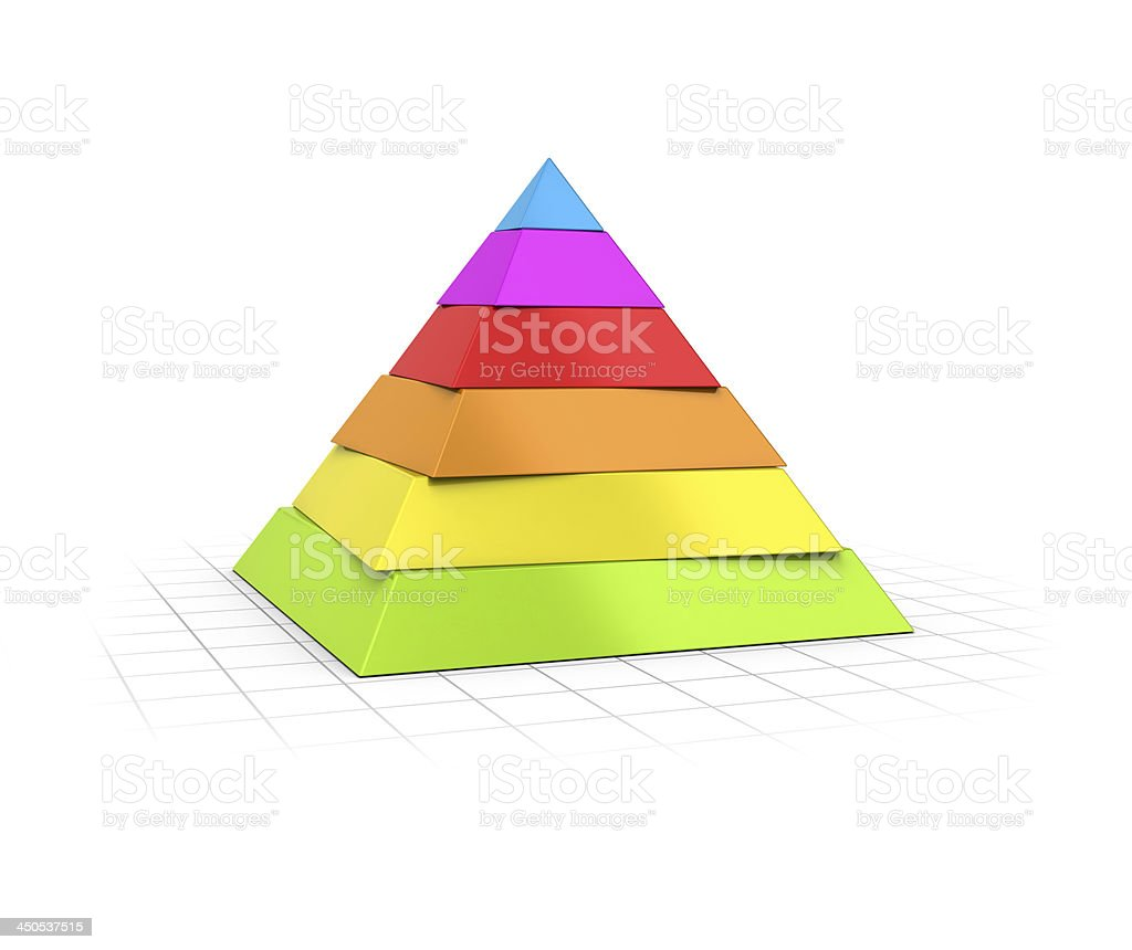 Layered Pyramid Six Levels stock photo