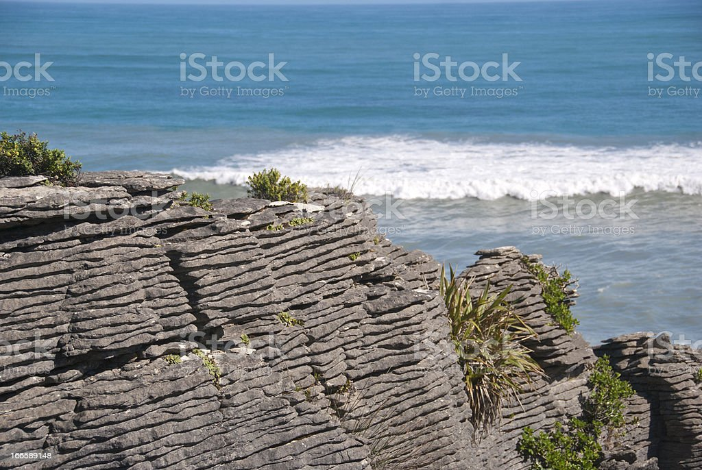 Layered rock formation royalty-free stock photo