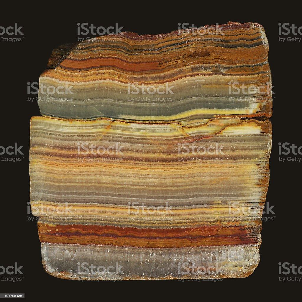 Layered rock stock photo