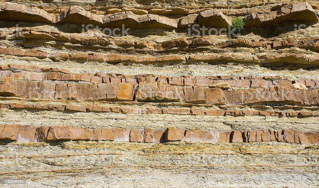 Layered rock texture royalty-free stock photo