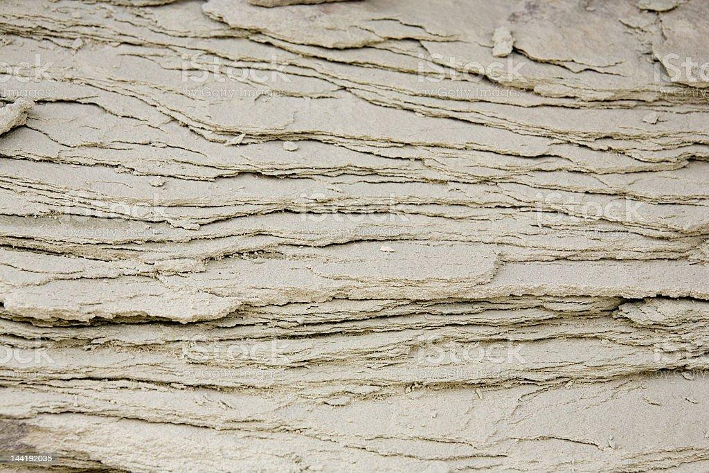 Strati di roccia texture foto stock royalty-free