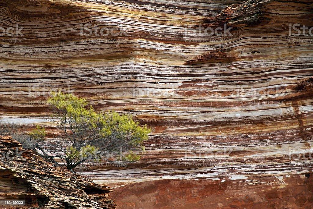 Layered Rock Wall stock photo