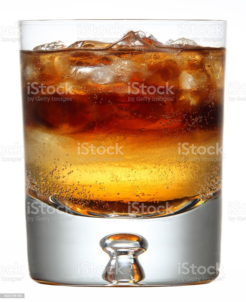 Layered Short Glass Cocktail stock photo