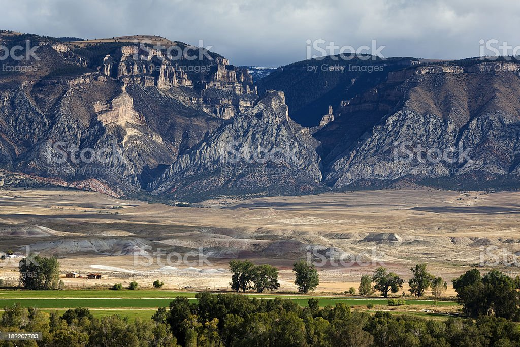 Layered Western Landscape With Mountain Mesa royalty-free stock photo