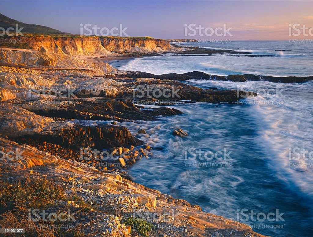 Layers of a rocky sunset (P) stock photo