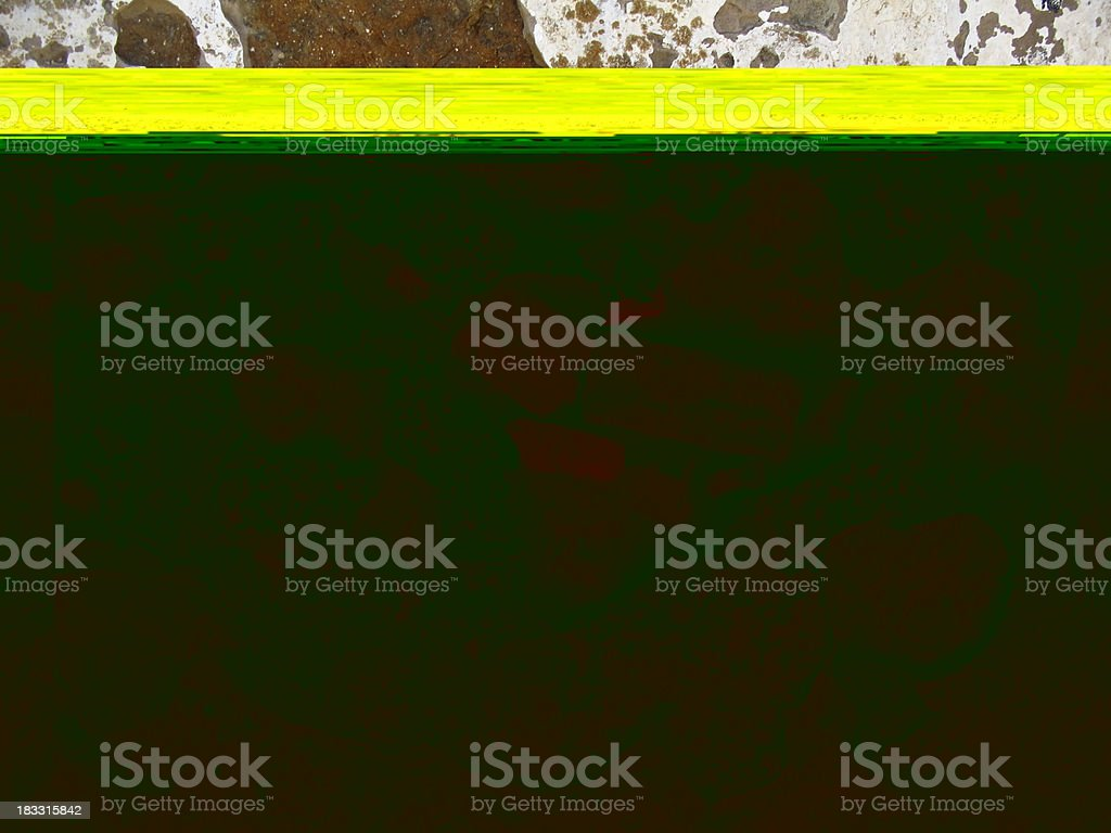 Layers of a wall revealed royalty-free stock photo