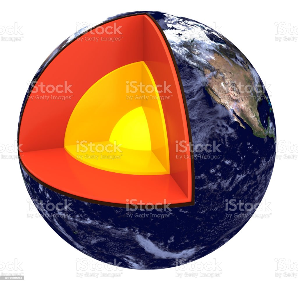 Layers of Earth stock photo