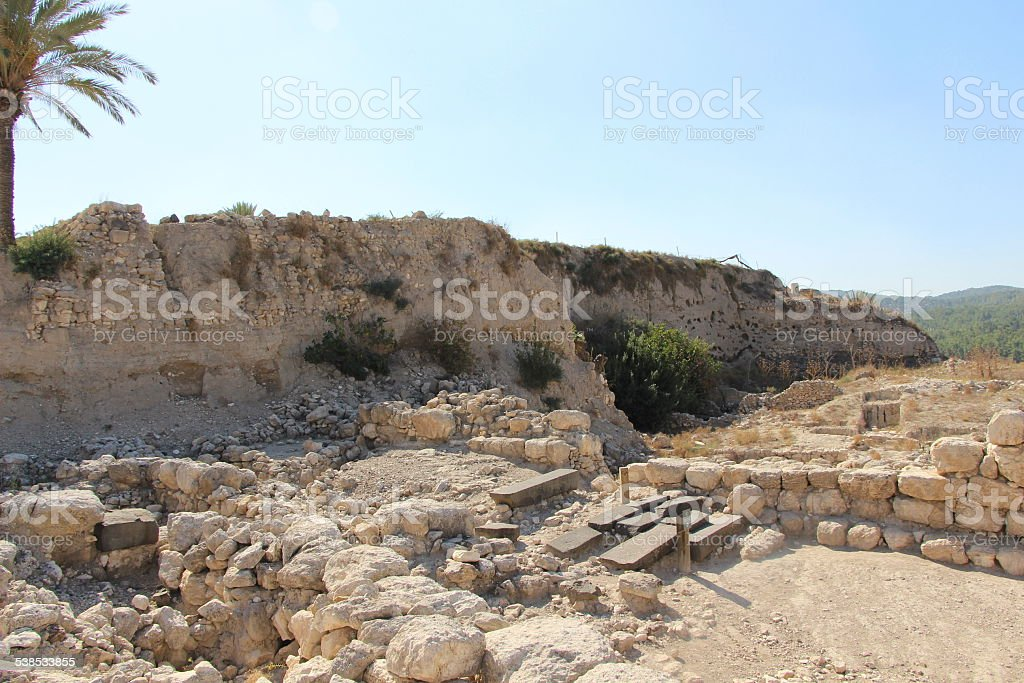 Layers of History at Megiddo stock photo