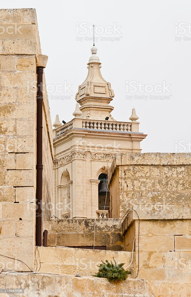 Layers of Limestone Walls royalty-free stock photo