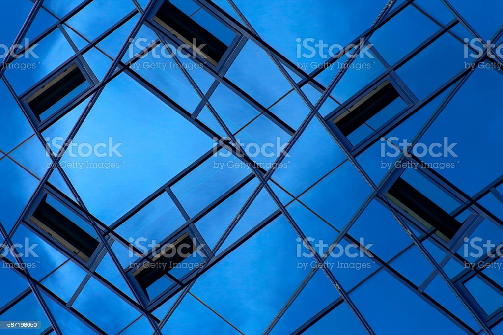 Layers of modern multistory building stock photo