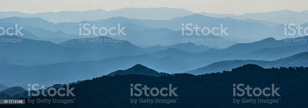 Layers of Mountain Ridges stock photo