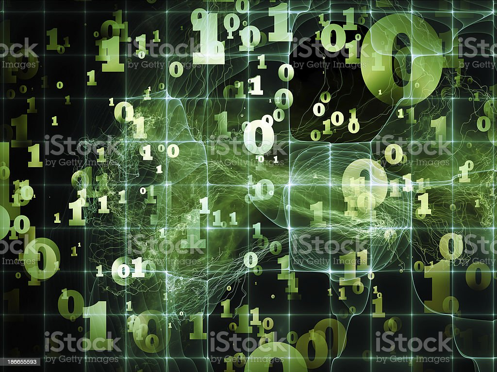 Layers of Numbers royalty-free stock photo