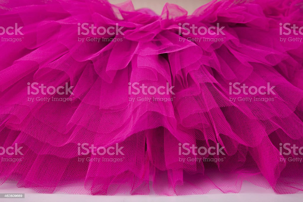 Layers of pink netting from a tutu stock photo