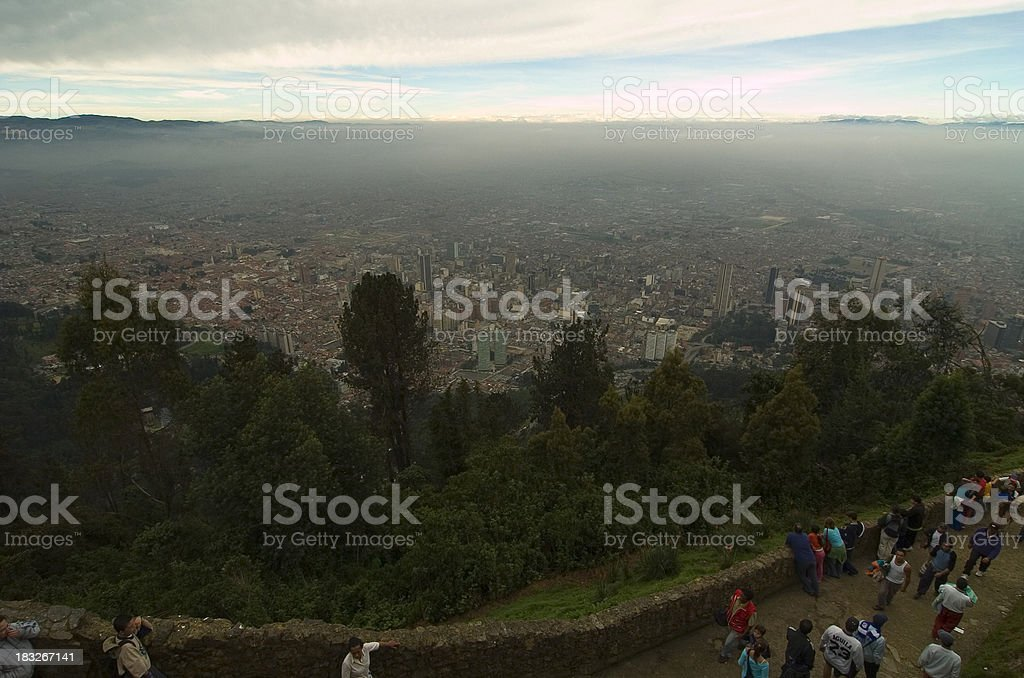 Layers of pollution above Bogot? stock photo