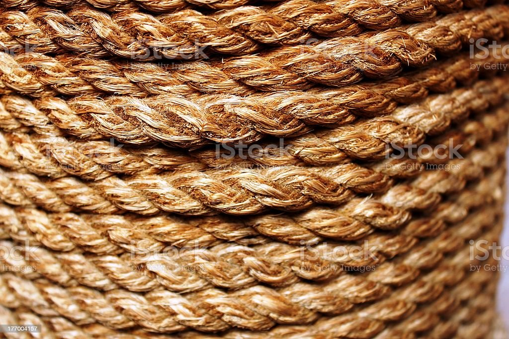 layers of rope stock photo