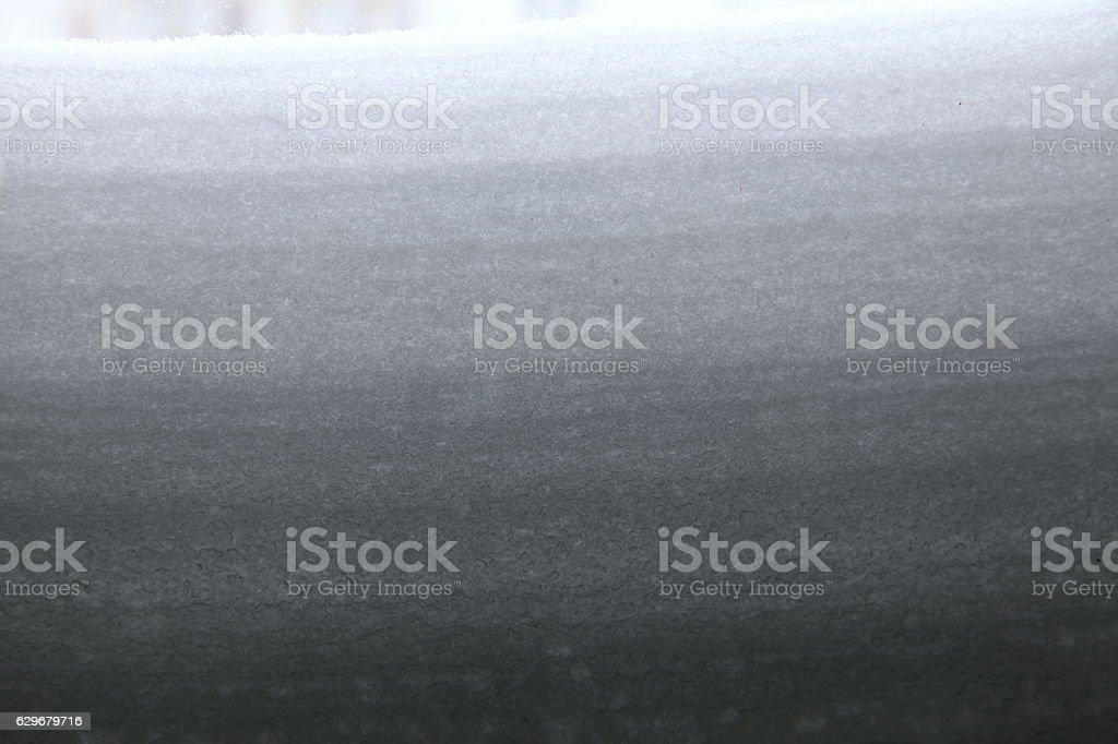 Layers of snow stock photo