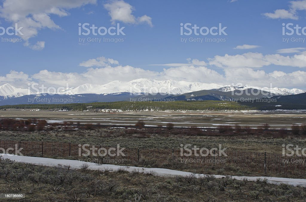 Layers of Spring in the Mountains stock photo
