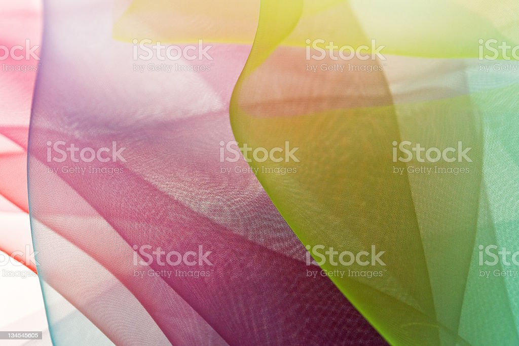 Layers of transparent soft textile  background royalty-free stock photo
