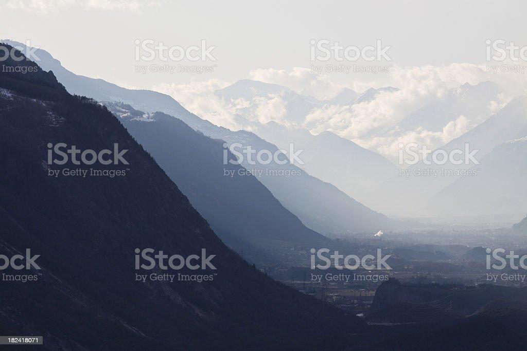 Layers on Alp Panorama stock photo