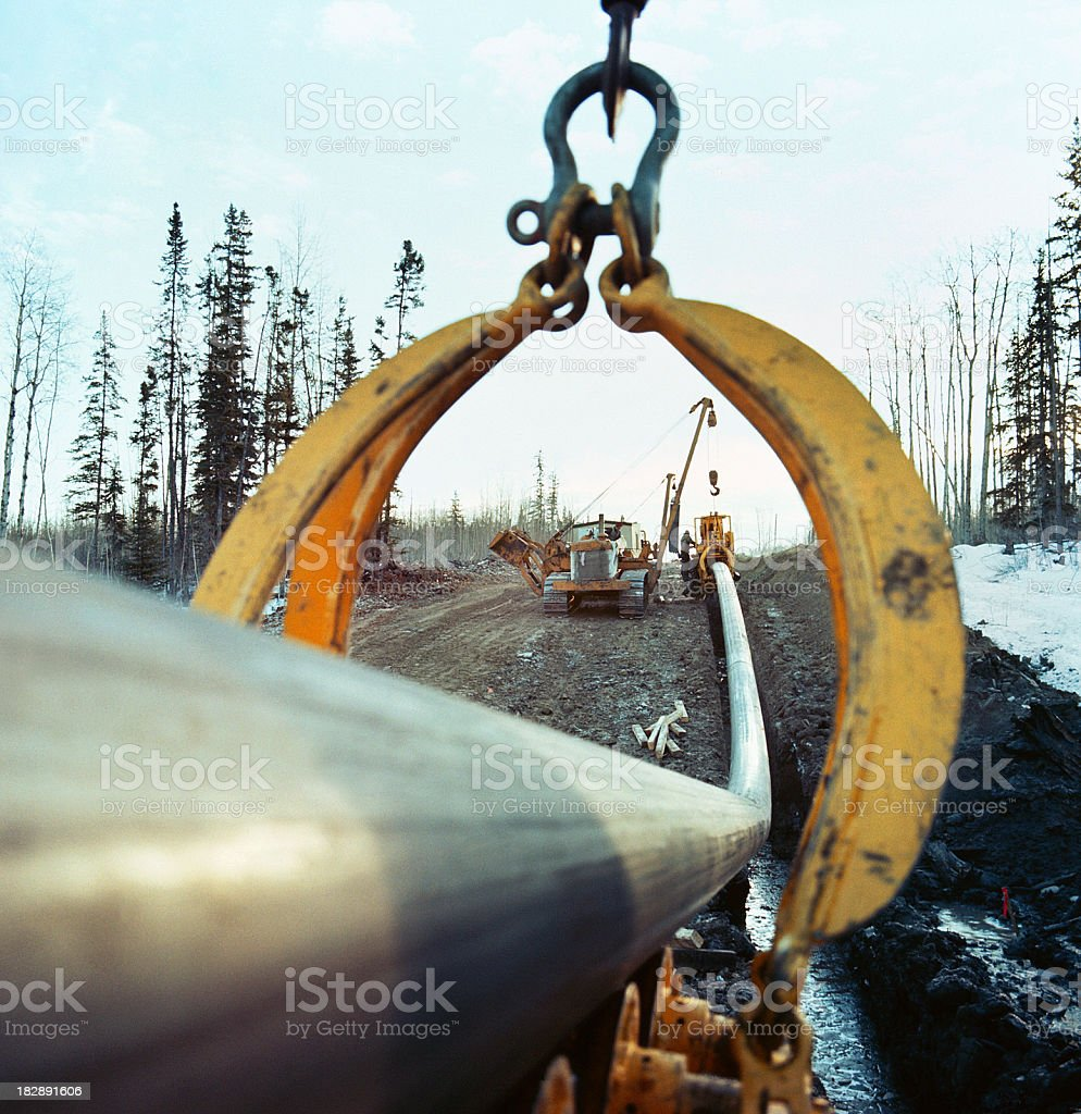 Laying a Pipeline stock photo