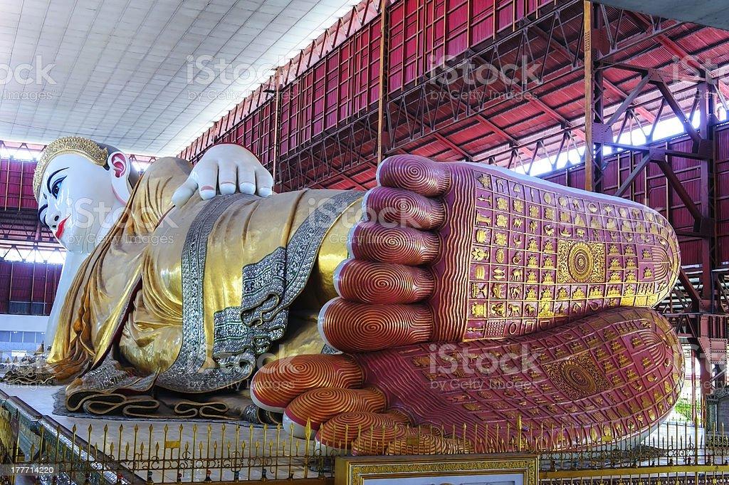 Laying Buddha royalty-free stock photo