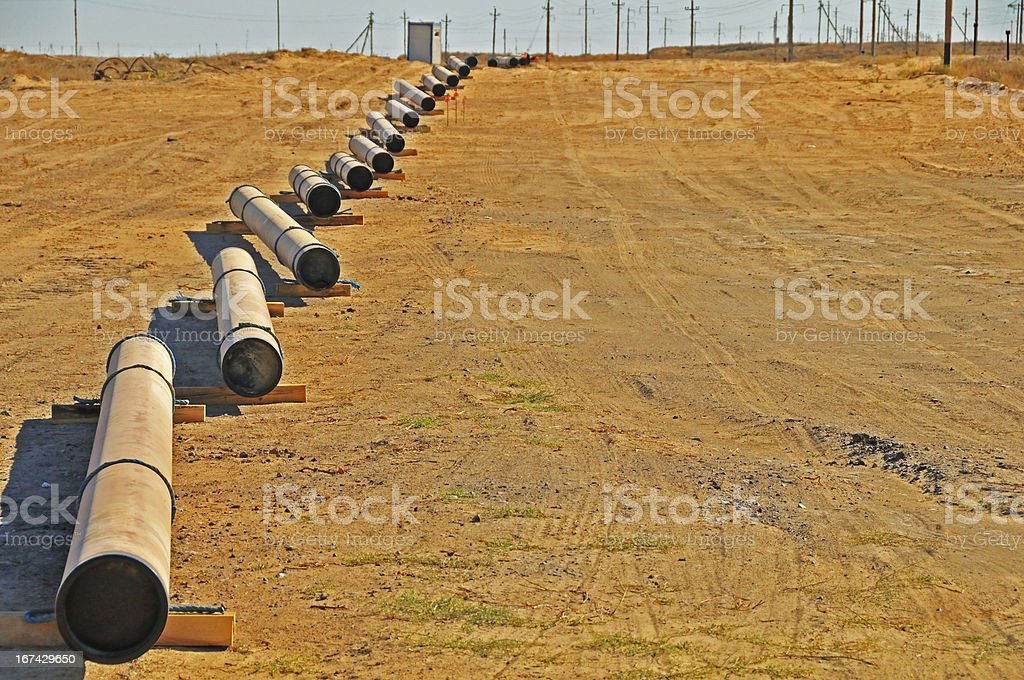 Laying down pipeline royalty-free stock photo