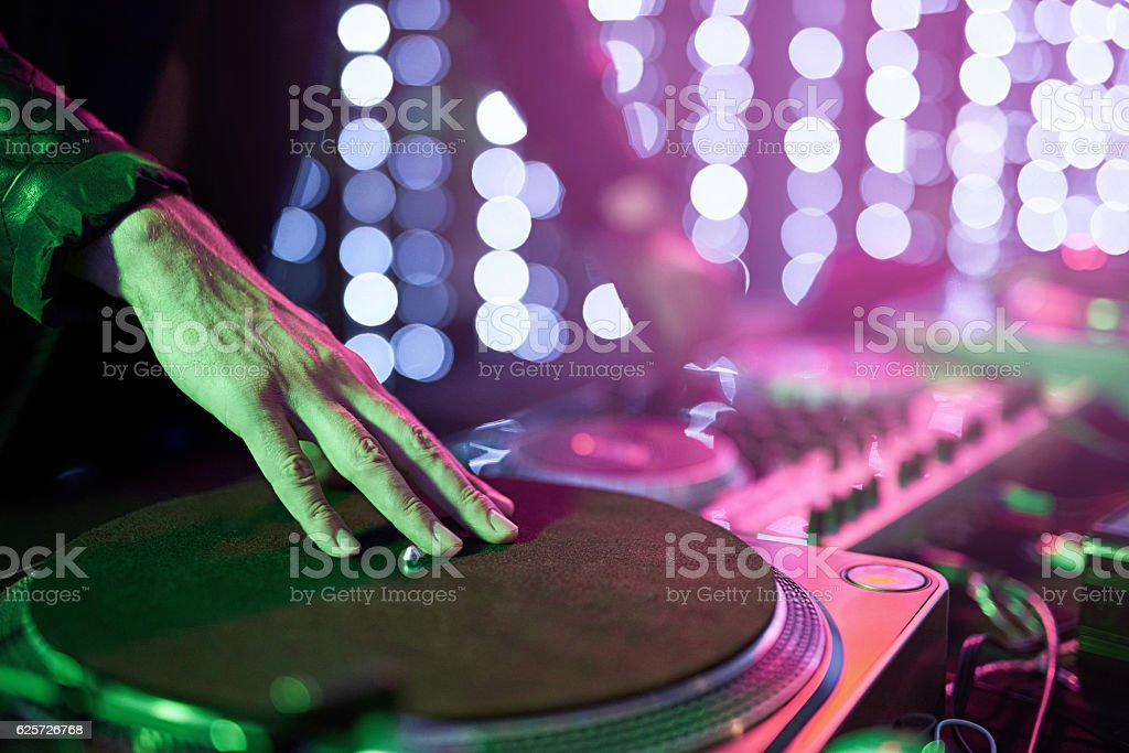 Laying down some beats stock photo