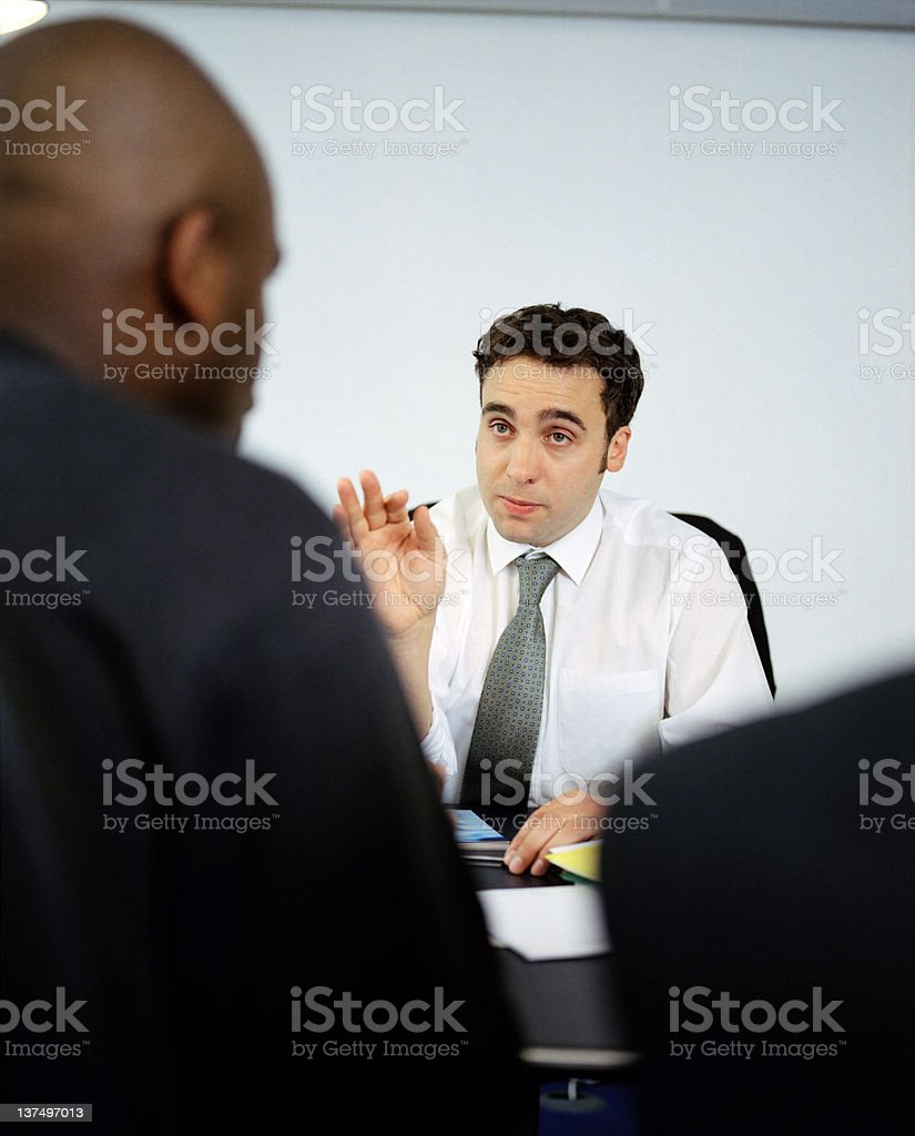 Laying down the law royalty-free stock photo