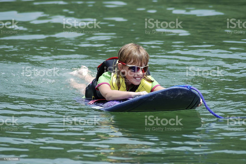 Laying on a Kneeboard stock photo