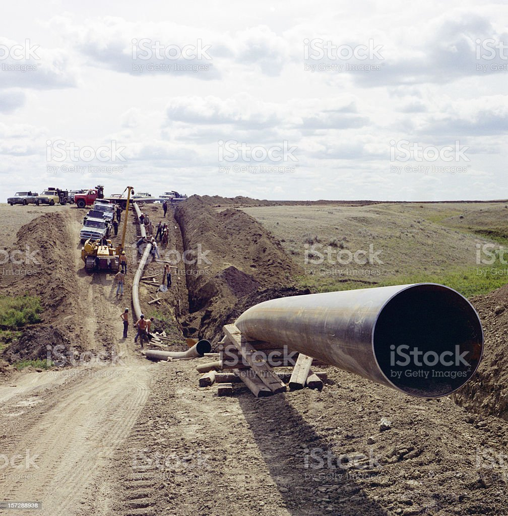 Laying Pipe 3 royalty-free stock photo