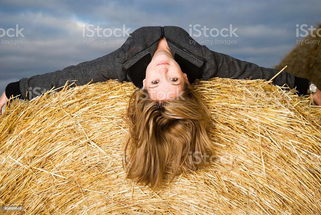 Laying Straw / Horizontal stock photo