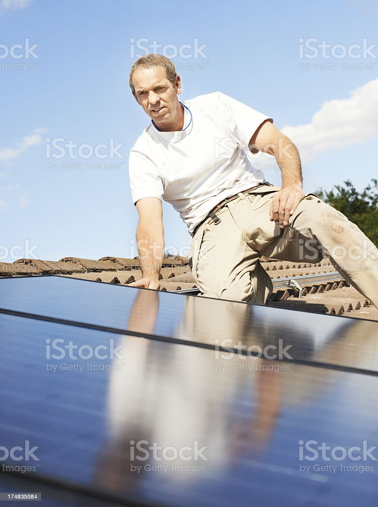Laying the foundation for a greener future royalty-free stock photo