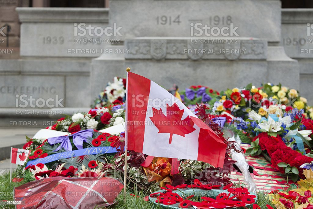 Laying wreaths stock photo