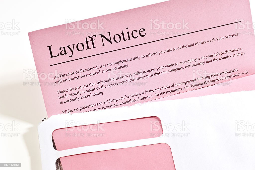 Layoff Notice royalty-free stock photo