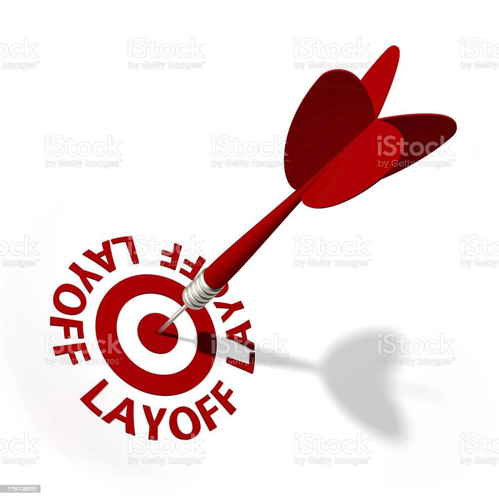 Layoff Target royalty-free stock photo