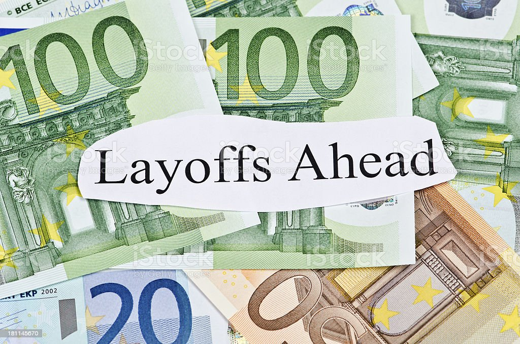 Layoffs Ahead royalty-free stock photo