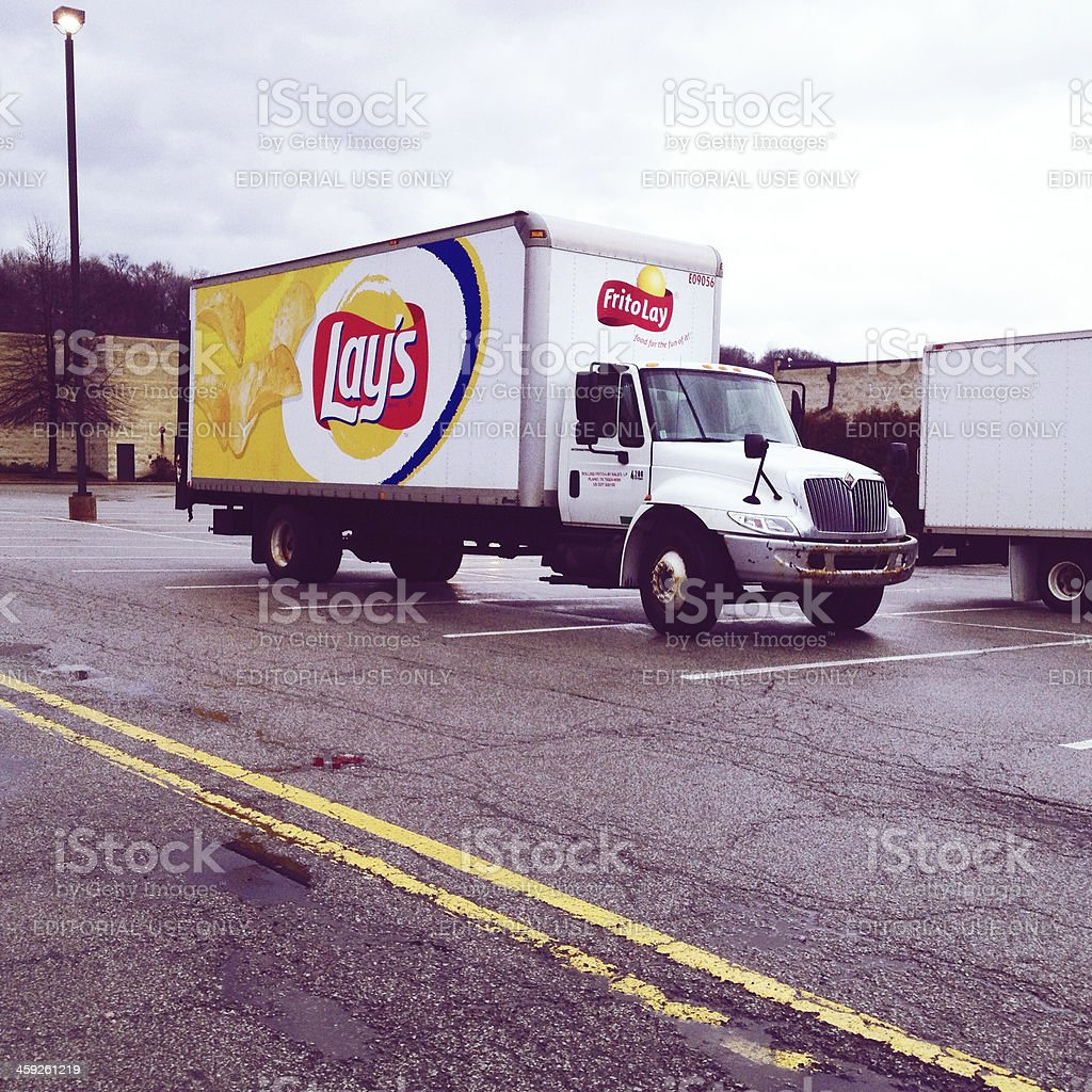Lay's Delivery Truck royalty-free stock photo