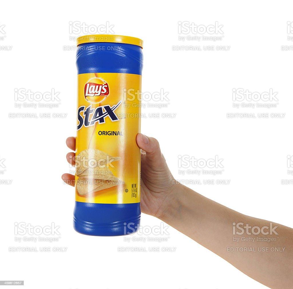 Lay's Stax Potato Chips stock photo