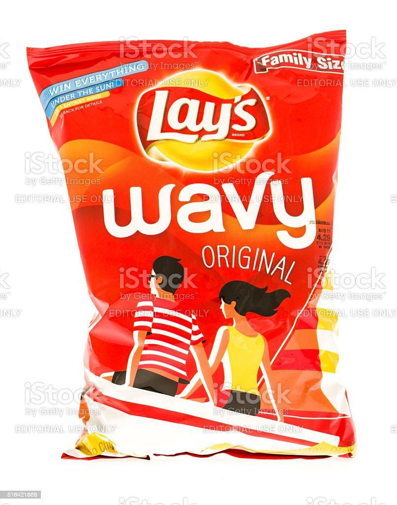 Lay's Wavy stock photo