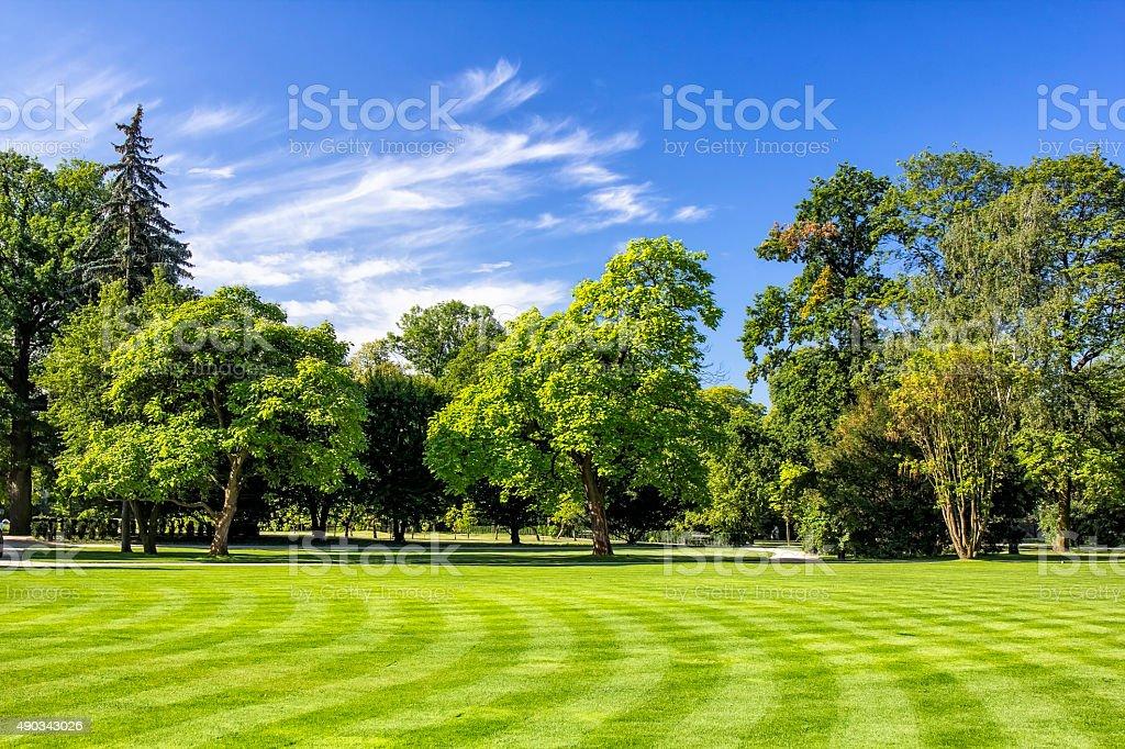 Lazienki Royal Park in Warsaw, Poland stock photo