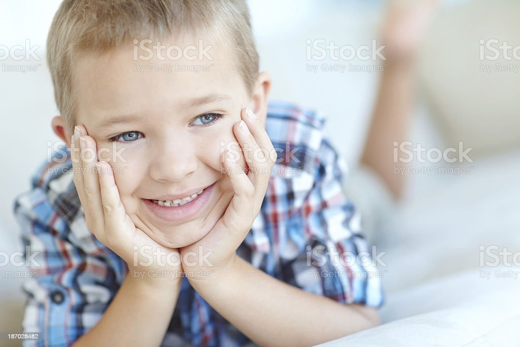 Lazing on a Saturday afternoon royalty-free stock photo
