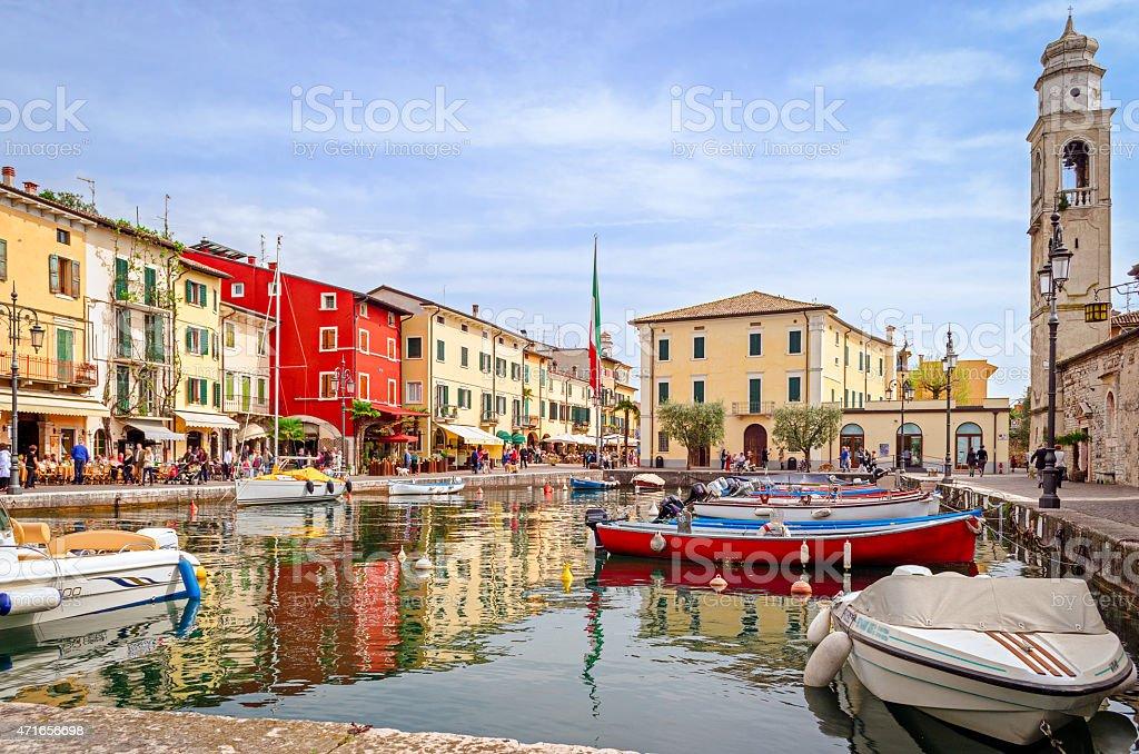 Lazise, Lago di Garda, Italy stock photo