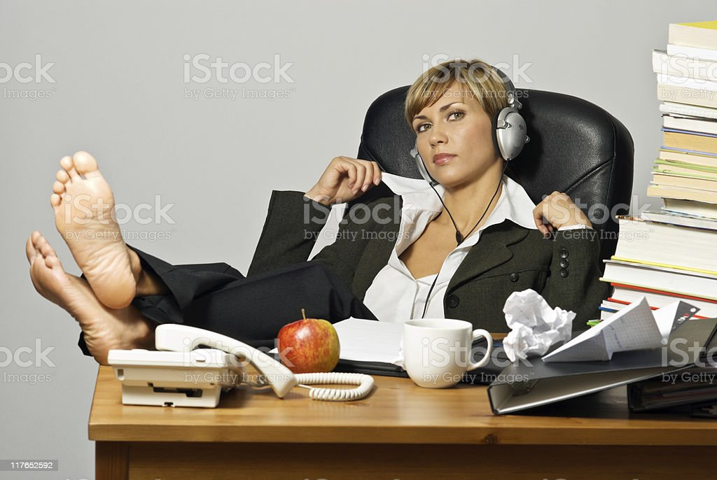 Lazy Businesswoman or Student royalty-free stock photo
