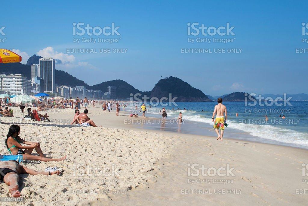 Lazy Day on Copacabana Beach stock photo
