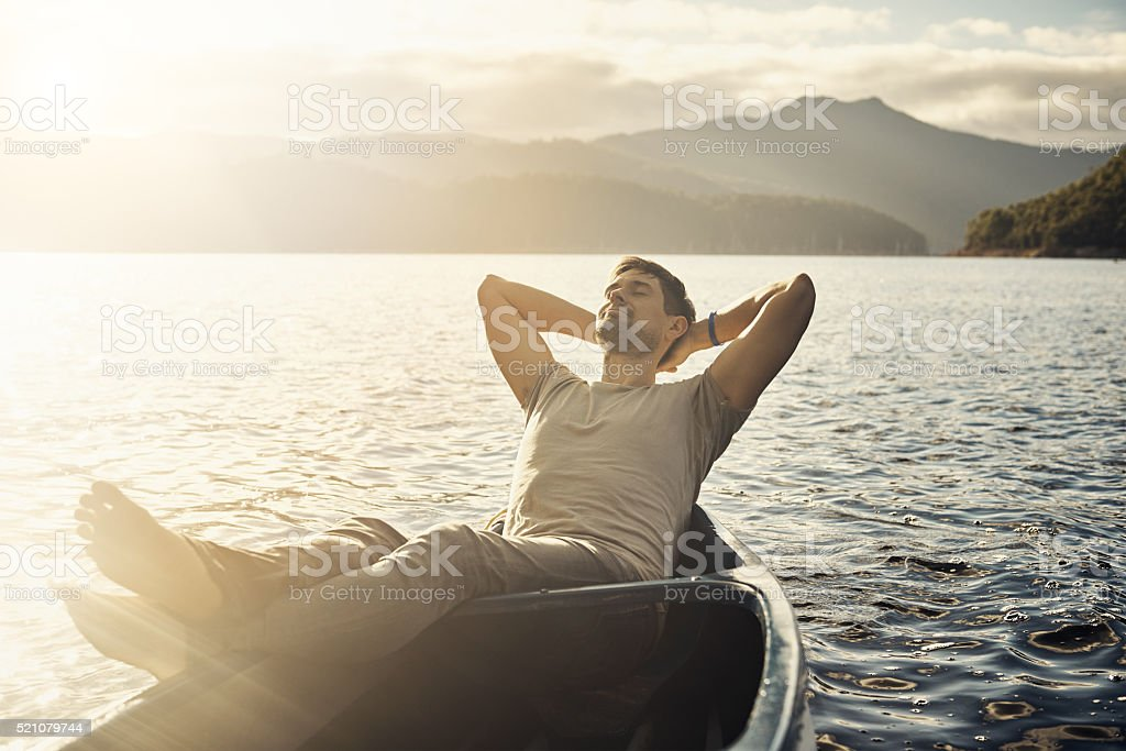 Lazy days on the lake stock photo