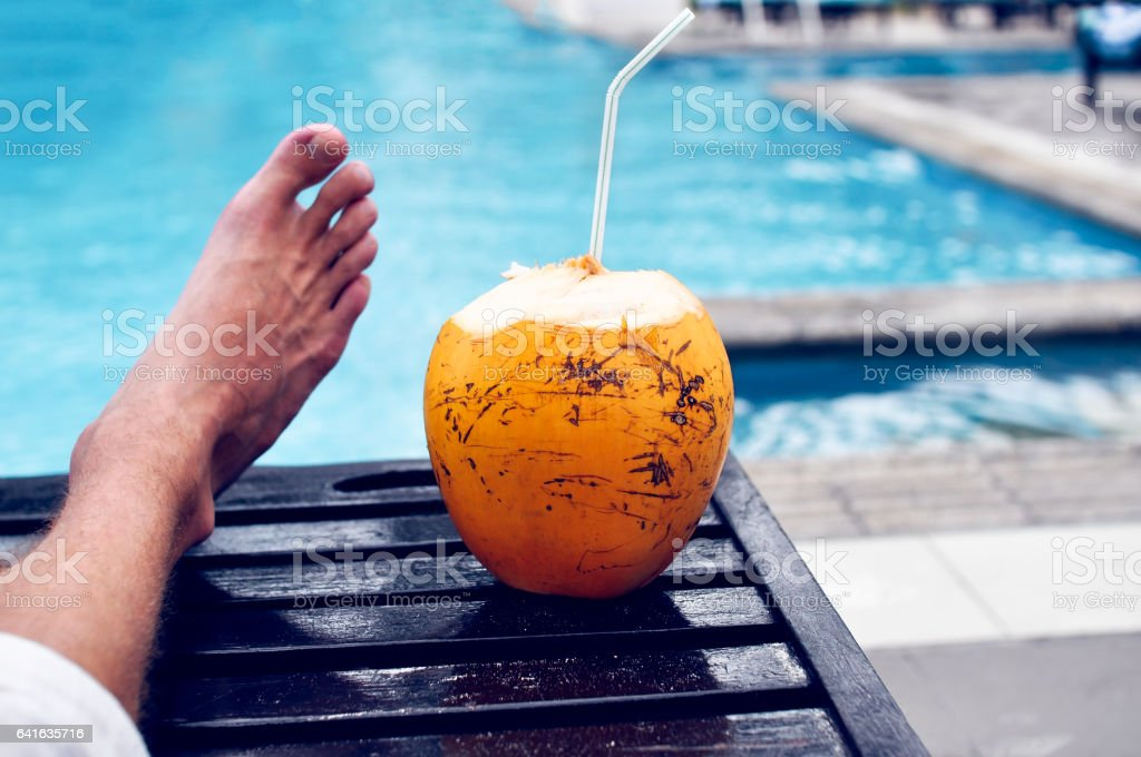 Lazy holiday by the pool stock photo