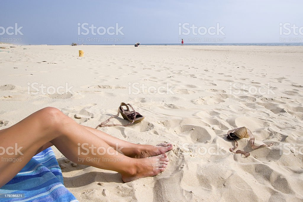 lazy legs royalty-free stock photo